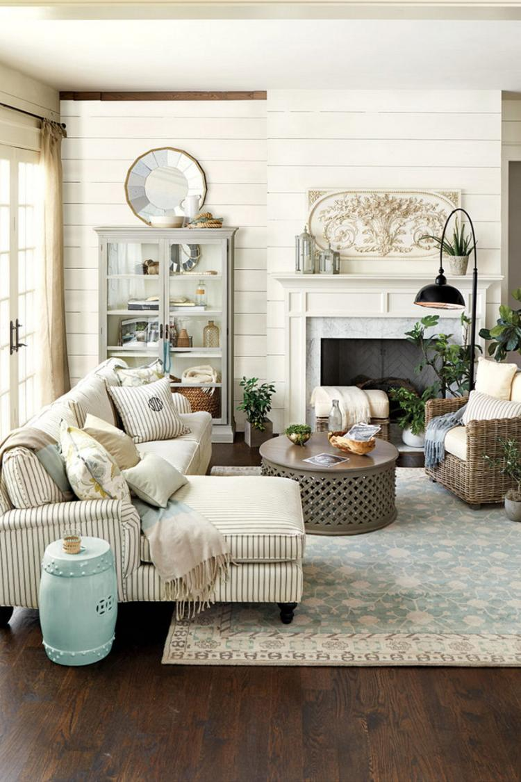 Provence style living room design - photo inspiration